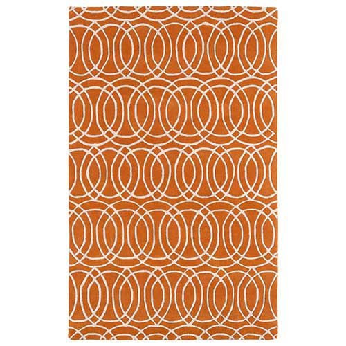 Kaleen Rugs Revolution Orange Rectangular: 5 Ft. x 7 Ft. 9 In. Rug