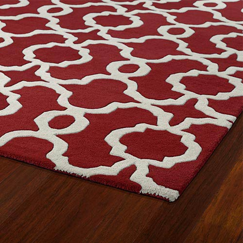 Kaleen Rugs Revolution Red and Ivory Rectangular: 5 Ft. x 7 Ft. 9 In. Rug