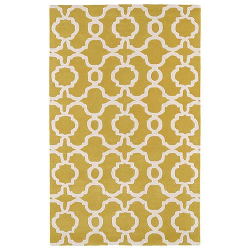 Revolution Yellow and Ivory Rectangular: 3 Ft. x 5 Ft. Rug