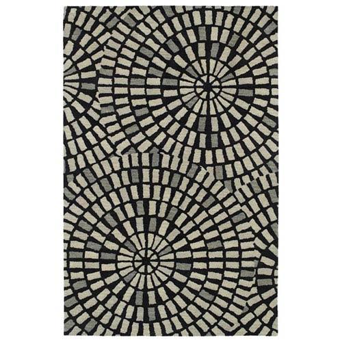 Rosaic Black Rectangular: 2 Ft. x 3 Ft. Rug