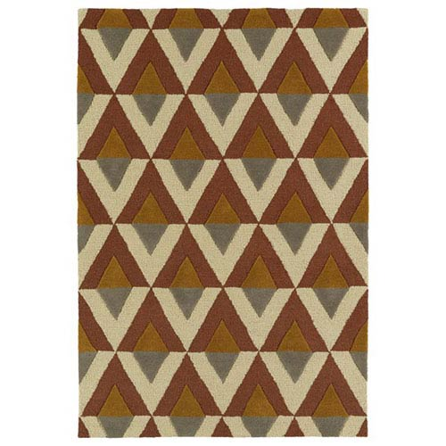Kaleen Rugs Spaces Brick Rectangular: 2 Ft. x 3 Ft. Rug
