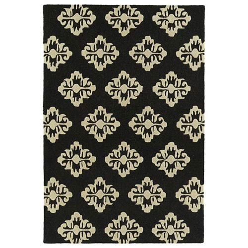 Spaces Black Rectangular: 2 Ft. x 3 Ft. Rug