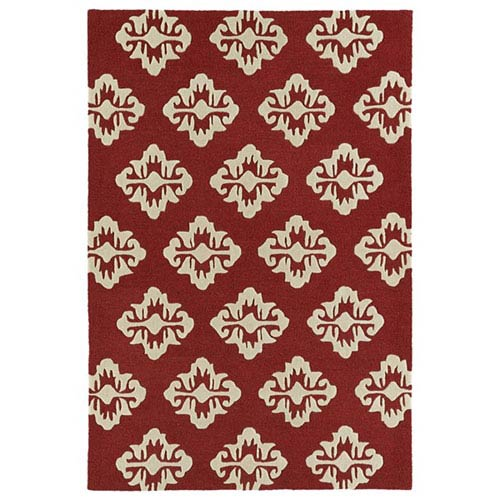 Spaces Cranberry Rectangular: 2 Ft. x 3 Ft. Rug