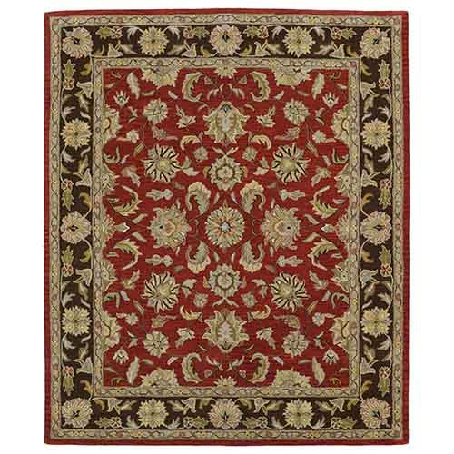 Kaleen Rugs Taj Salsa TAJ17 Rectangular: 5 Ft. x 7 Ft. 9 In. Rug