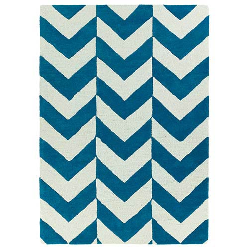 Kaleen Rugs Trends Turquoise TRN02 Rectangular: 5 Ft. x 7 Ft. Rug