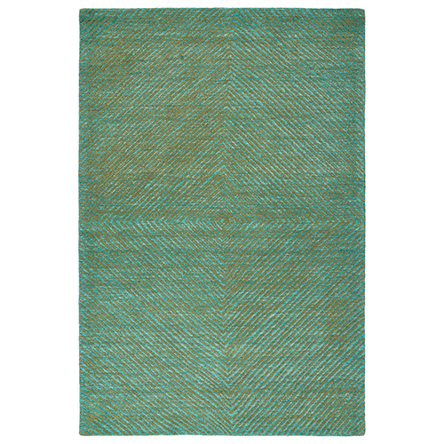 Textura Turquoise Rectangular: 9 Ft. x 12 Ft.