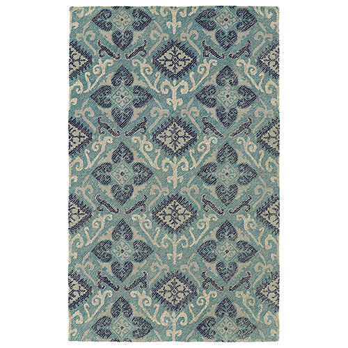 Kaleen Rugs Weathered Teal Rectangular: 2 Ft. x 3 Ft.