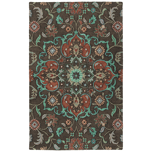 Zocalo Chocolate Hand-Tufted 5Ft. x 7Ft. Rectangle Rug