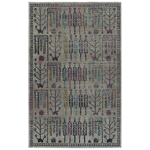Zuma Beach Multicolor Machine Made 2Ft. 2In x 7Ft. 6In Runner Rug