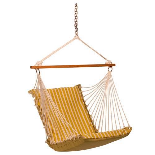 Sunbrella Soft Comfort Hanging Chair  - Citron