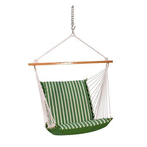 Sunbrella Soft Comfort Hanging Chair   Emerald