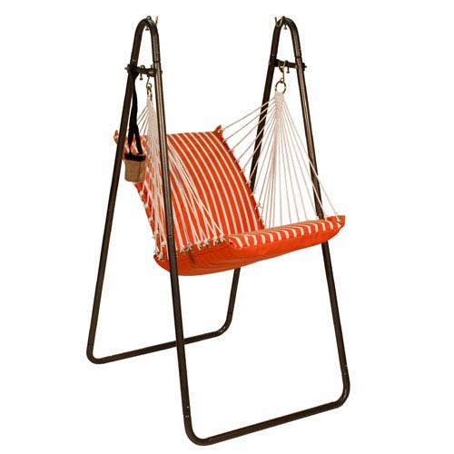 Sunbrella Hanging Chair with Stand Set - Melon