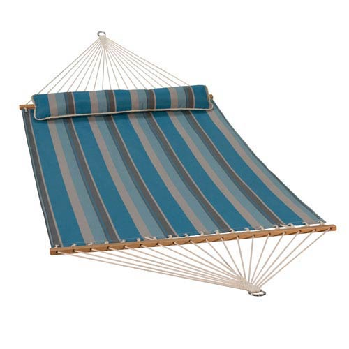 13 Foot Quick Dry Hammock with Matching Pillow Ocean Stripe