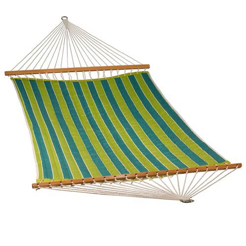 Algoma Net Company 13 Foot Quilted Fabric Hammock - Wickenburg Teal/Cobble Willow