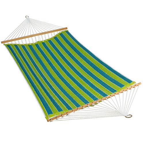 Algoma Net Company 11 Foot Polyester Fabric Hammock - Wickenburg Teal/Cobble Willow