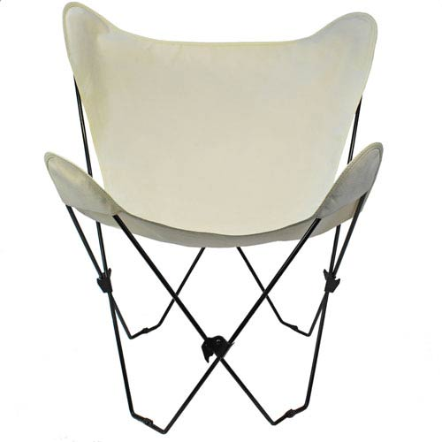 Algoma Net Company Black Butterfly Chair with Natural Cover