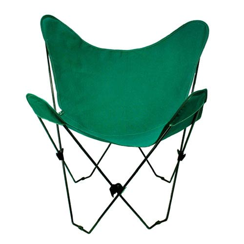 Black Butterfly Chair with Hunter Green Cover