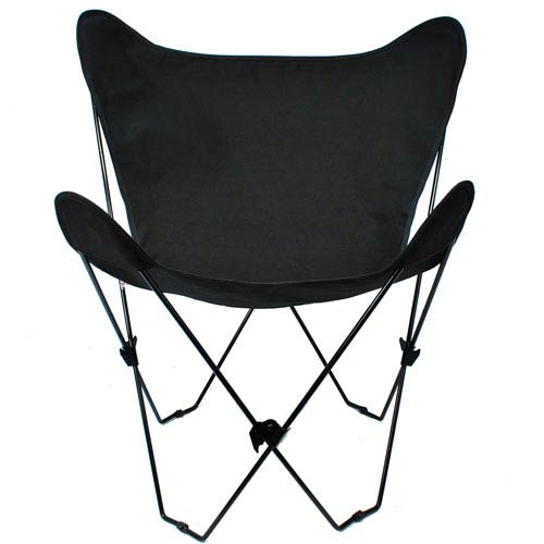 Algoma Net Company Black Butterfly Chair with Ebony Cover