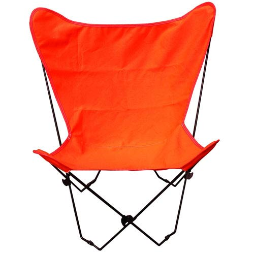 Algoma Net Company Black Butterfly Chair with Orange Cover