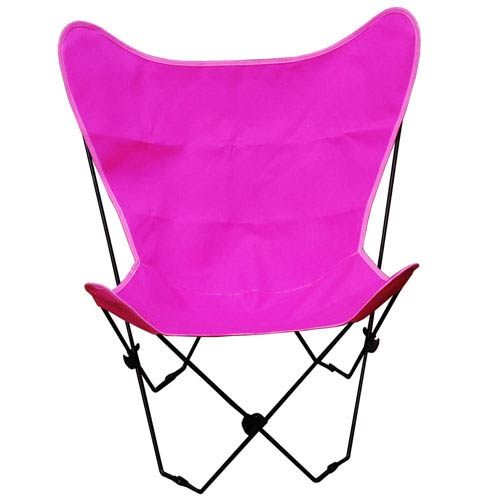 Algoma Net Company Black Butterfly Chair with Pink Cover