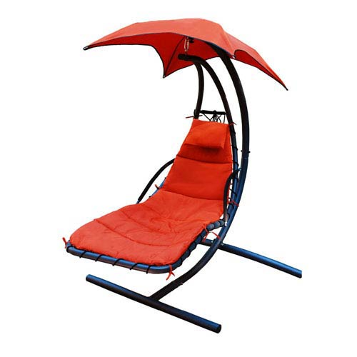 Algoma Net Company Orange Stand Lounger Chair