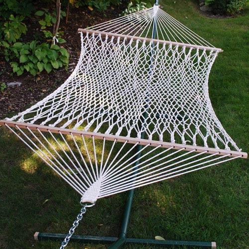 Algoma Net Company Single Cotton Rope Hammock