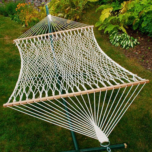 Algoma Net Company Double Cotton Rope Hammock
