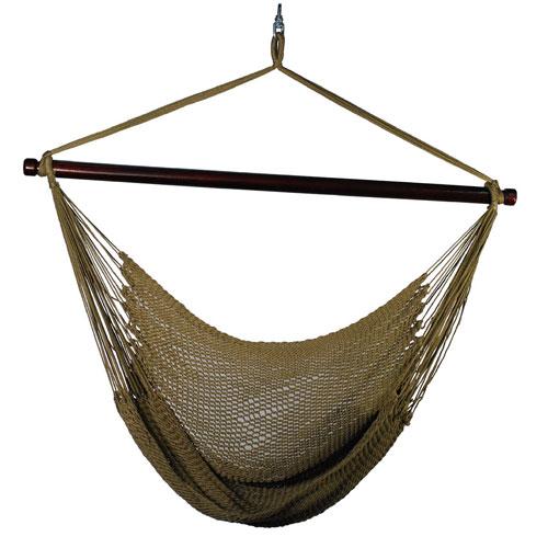 Algoma Net Company Tan Hanging Caribbean Hammock