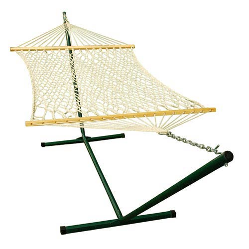 Algoma Net Company Natural Cotton Rope Hammock with Stand