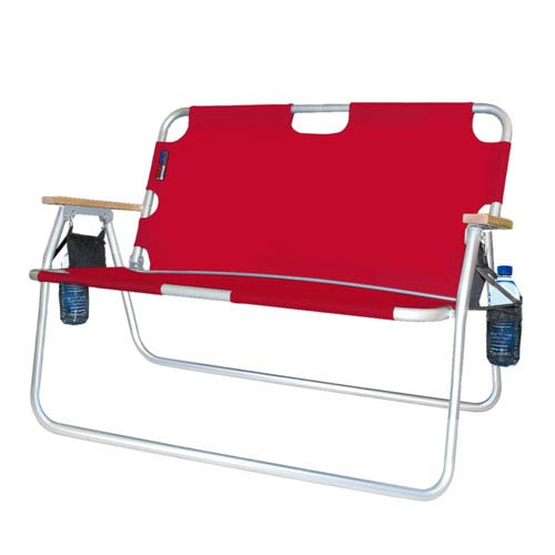 Algoma Net Company Red Tailgater with Drink Holders Chair