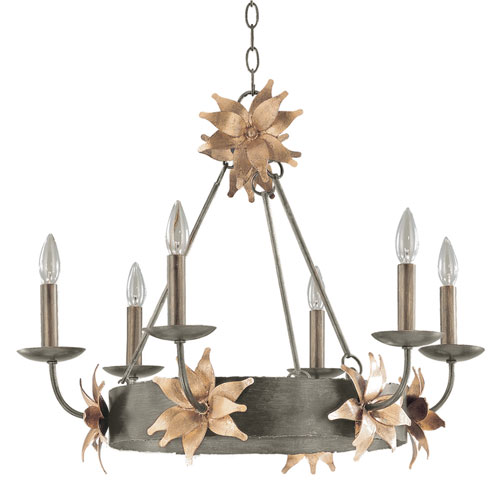 Flambeau Lighting Simone Six Light Bronze Chandelier