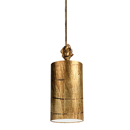 Fragment Gold Leaf One-Light Mini Pendant