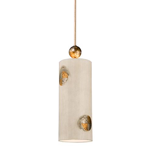 Compass Textured Taupe One-Light Mini Pendant
