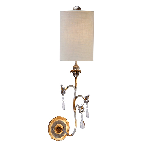 Tivoli Cream Patina and Gold One-Light Wall Sconce
