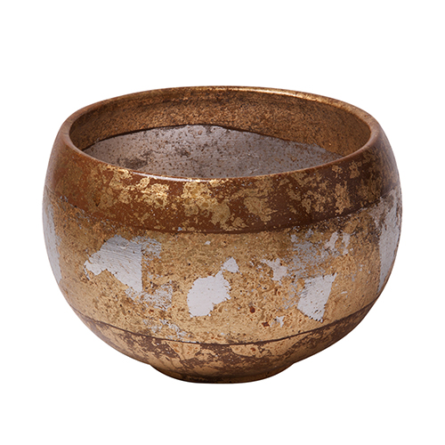 Eva Gold and Silver Leaf Decorative Bowl