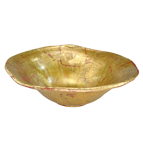 Beauvoir Gold and Silver Leaf Decorative Bowl