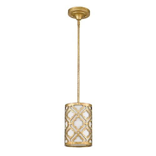 Arabella Distressed Gold One-Light Mini Pendant