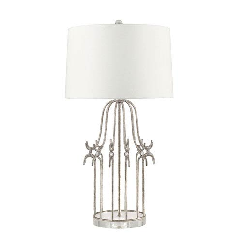 Stella Distressed Silver Table Lamp