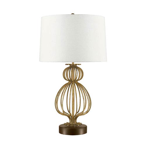 Lafitte Steel Aged Gold Table Lamp