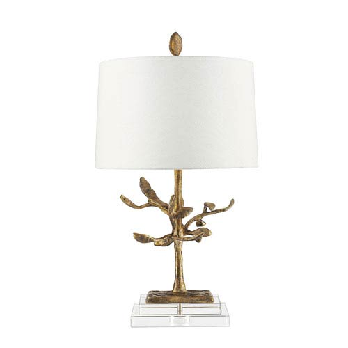 Audubon Distressed Gold Table Lamp