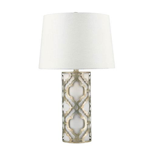 Arabella Distressed Silver Table Lamp