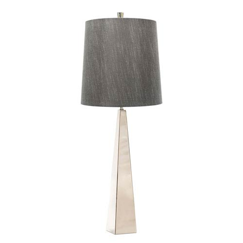 Ascent Polished Stainless Steel One-Light Table Lamp