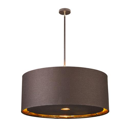 Balance Polished Brass and Brown Four-Light Pendant