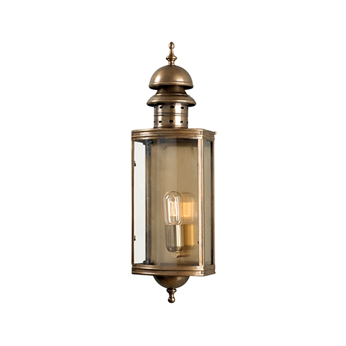 Elstead Lighting Downing Street Aged Brass One-Light Outdoor Wall Sconce