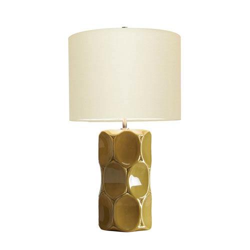 Retro Olive Green Glaze One-Light Table Lamp