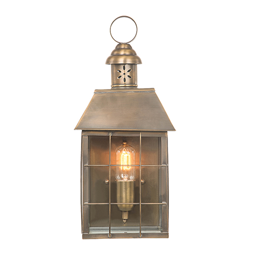 Elstead Lighting Hyde Park Aged Brass One-Light Outdoor Wall Sconce