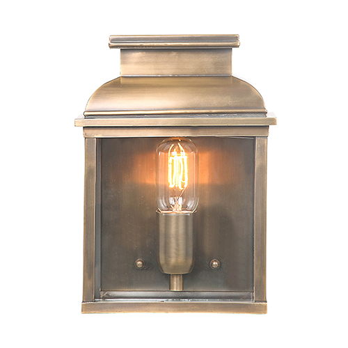 Old Bailey Aged Brass One-Light Outdoor Wall Sconce