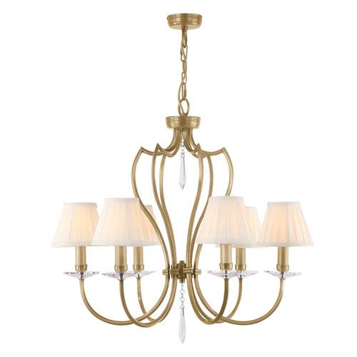 Pimlico Aged Brass Six-Light Chandelier