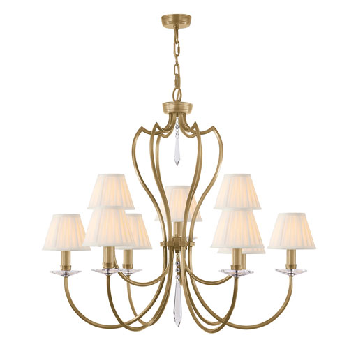 Pimlico Aged Brass Nine-Light Chandelier