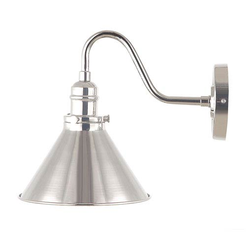 Provence Polished Nickel One-Light Wall Sconce